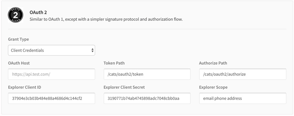 Authentication Client Creds